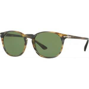 Persol 3007S Brown Striped Grey Vert