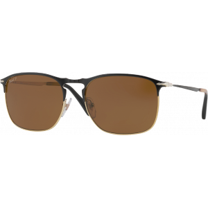 Persol 7359S Black/Gold Brown Polarized