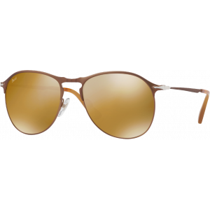 Persol 7649S Medium Marron Brun Miroité Doré