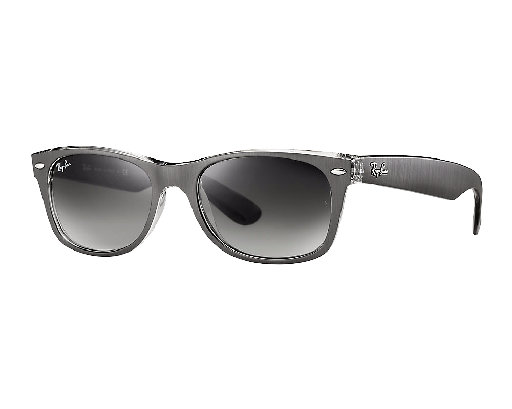 ray ban new wayfarer large gunmetal transparent gris d grad eyeshop. Black Bedroom Furniture Sets. Home Design Ideas