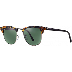 Ray-Ban Clubmaster Large Spotted Black Havana/G-15 XLT