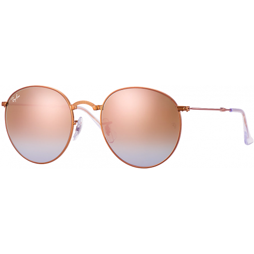 07be4496db4 Ray-Ban Round Folding Shiny Bronze Copper Mirror Gradient - Ray-Ban  Highstreet