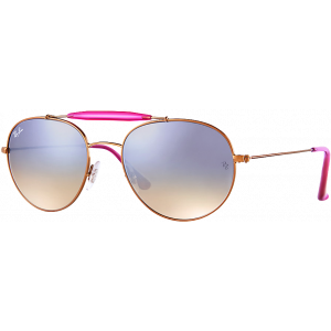 Ray-Ban RB3540 Large Bronze/Rose Gris Miroité Dégradé