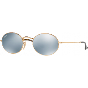 Ray-Ban Oval Flat Gold Mirror Silver