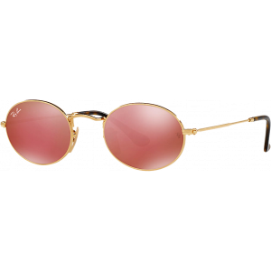 Ray-Ban Oval Flat Gold Copper Mirror