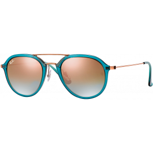 Ray-Ban RB4253 Large Shiny Turquoise/Bronze Copper Mirror Gradient