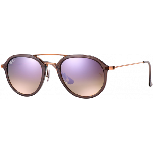 Ray-Ban RB4253 Large Gris Brillant/Bronze Lila Miroité Dégradé