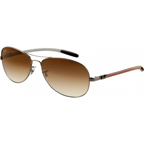 Ray-Ban RB8301 Large Gunmetal Brown Gradient - EyeShop e62d6df3792b
