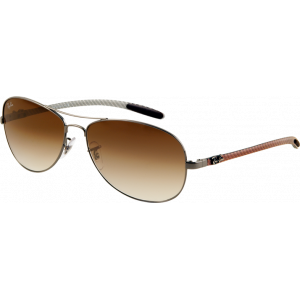 Ray-Ban RB8301 Gunmetal Brun Dégradé