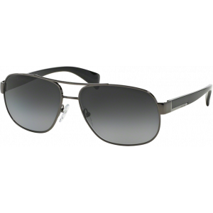Prada SPR52P Glossy Gunmetal Grey Gradient Polarized