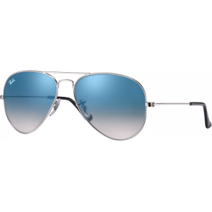 Ray-Ban Aviator Silver Light Blue Gradient