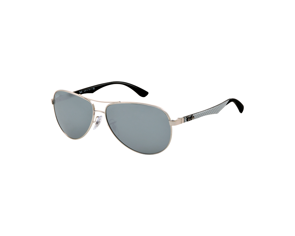 Ray ban rb8313 large silver grey silver mirror eyeshop for Big silver mirror