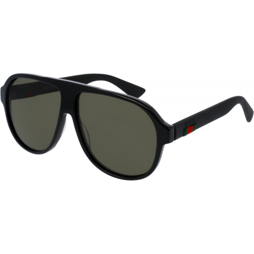 2064ec8a2d8 Gucci 0009 S Black Green - Fashion Designer Sunglasses