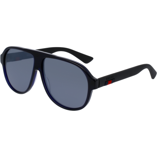 c4c36affac7 Gucci 0009 S Blue Black Silver Flash - Fashion Designer Sunglasses