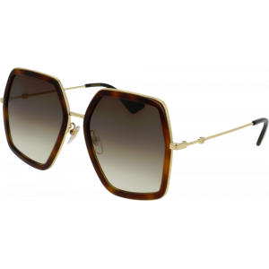 Gucci 0106/S Black/Gold Brown Gradient