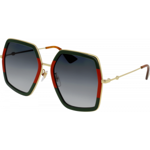 Gucci 0106/S Green/Red/Gold Grey Gradient