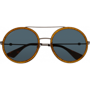 Gucci 0061/S Ecaille/Ruthenium Bleu