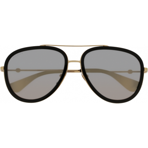 c8ce835de00 Gucci 0062 S Black Gold Gold Flash - Fashion Designer Sunglasses