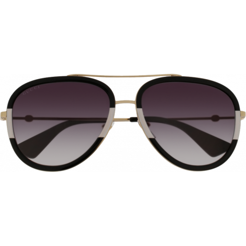 ad94e0f4147 Gucci 0062 S Black Gold Grey Gradient - Fashion Designer Sunglasses