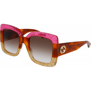 Gucci 0083/S Fuchsia/Havana/Gold Brown Gradient