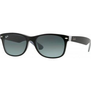 Ray-Ban New Wayfarer Matte Black/White Grey Gradient