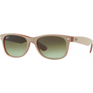 Ray-Ban New Wayfarer Matte Beige/Red Green Gradient