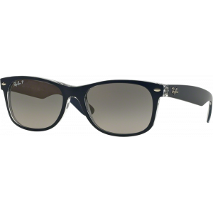 Ray-Ban New Wayfarer Bleu/Transparent Gris Dégradé Polarisé