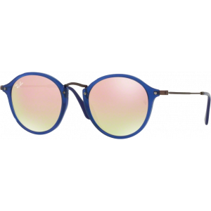 Ray-Ban RB2447N Flat Bleu Transparent Cuivre Flash Dégradé