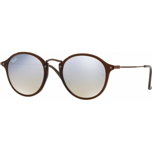 Ray-Ban RB2447N Medium Brun Transparent Gris Flash Dégradé