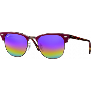 Ray-Ban Clubmaster Large Bordeaux Blue Rainbow Flash
