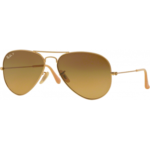 Ray-Ban Aviator Large Doré Brun Polarisé