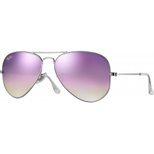 Ray-Ban Aviator Large Flash Silver Lilac Flash Gradient