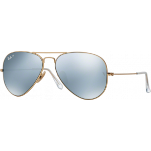 Ray-Ban Aviator Flash Lenses Silver Grey Mirror Silver Polarized