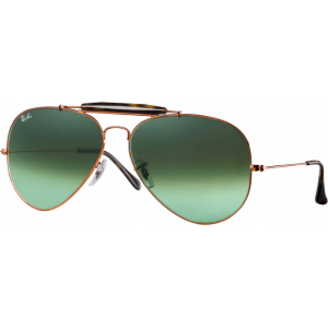 Ray-Ban Outdoorsman II Bronze Vert Dégradé