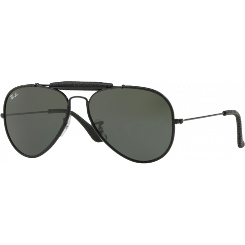 6292e48d87495 Ray-Ban Craft Outdoorsman Leather Black G-15 XLT - Ray-Ban Aviator