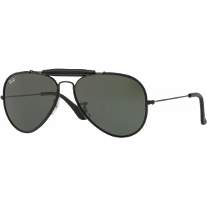 Ray-Ban Craft Outdoorsman Cuir Noir G-15 XLT