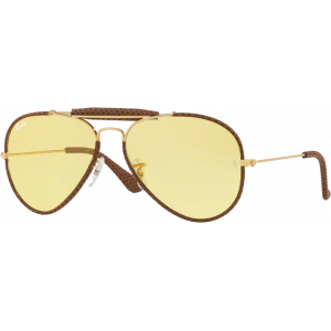 Ray-Ban Craft Outdoorsman Cuir Brun Clair Jaune Photochromique