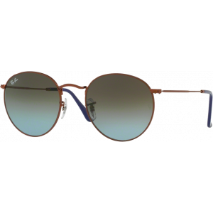 Ray-Ban Round Metal Small Bronze Blue Gradient Brown