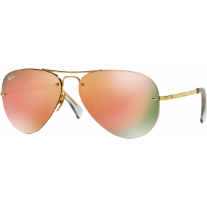 Ray-Ban RB3449 Gold Copper Mirror