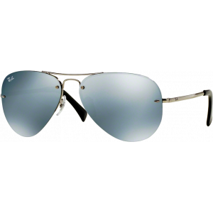 Ray-Ban RB3449 Silver Green Mirror Silver