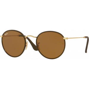 Ray-Ban Round Craft Cuir Brun B-15