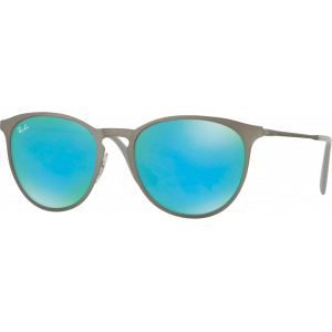 Ray-Ban Erika Metal Rubber Gunmetal Vert Flash Bleu