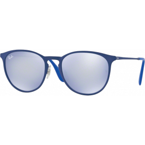 Ray-Ban Erika Metal Rubber Electric Blue Bleu Flash Gris