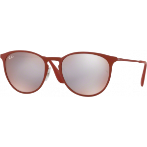 Ray-Ban Erika Metal Rubber Bordo' Bordo' Flash Grey