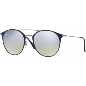 Ray-Ban RB3546 Medium Bleu/Gunmetal Gris Flash Dégradé