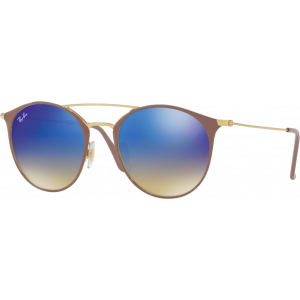 Ray-Ban RB3546 Beige/Doré Bleu Flash Dégradé
