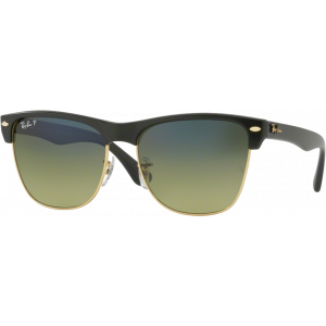 Ray-Ban Clubmaster Oversized Black Green Gradient Blue Polarized