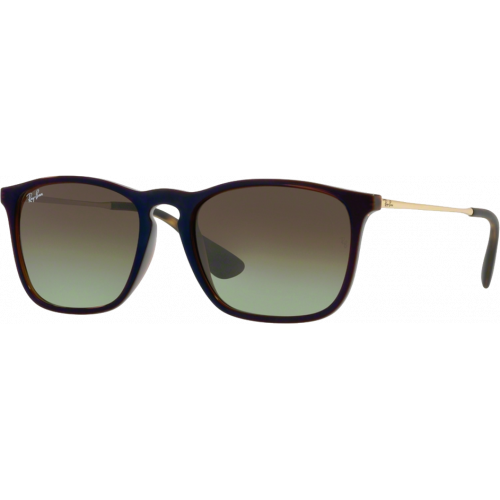 Ray-Ban Chris Brun Transparent Vert Dégradé