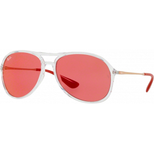 Ray-Ban Alex Transparent Rouge