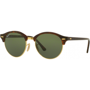 Ray-Ban Clubround Red Havana/Doré G-15 Polarisé